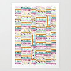 multicoloured AZTEC + Art Print