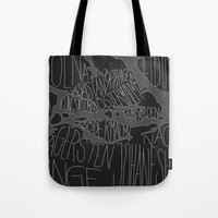 stockholm Tote Bags featuring Stockholm by Malin Erixon