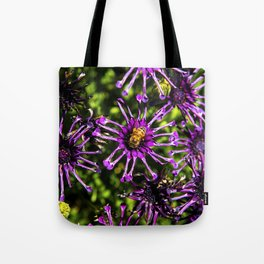 Bee and the Purple Flower Tote Bag
