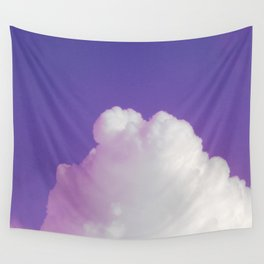Big Fluffy Cloud Against a Purple Sky, Beautiful Cloud and Beautiful Sky Wall Tapestry