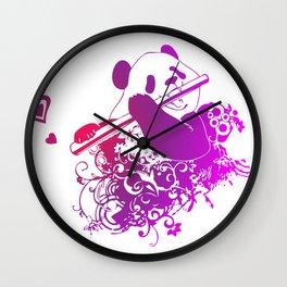 Panda Flute Wall Clock