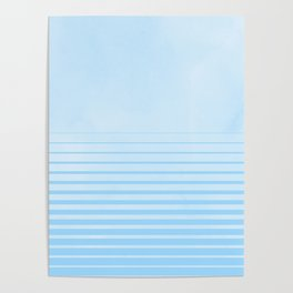 Sweet Life Collection Gradient Blue Raspberry Poster
