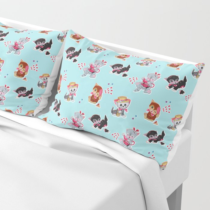 Zombie Cats Pillow Sham