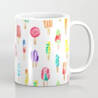 popsicle Mugs featuring Popsicle by Golden Girl Art