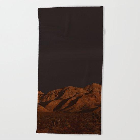 Desert Alpenglow - II Beach Towel