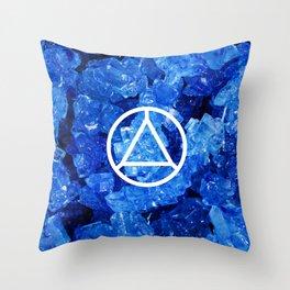 Sapphire Candy Gem Throw Pillow