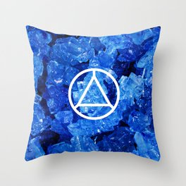 Sapphire Candy Gem Throw Pillow