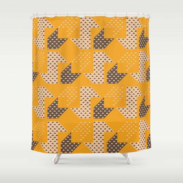 Clover&Nessie Mandarin/Mocha Shower Curtain by hilotomula | Society6