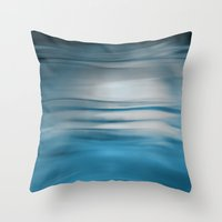 under the sea Throw Pillows featuring Under Sea by Lena Weiss