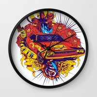 muscle Wall Clocks featuring Muscle by Tshirt-Factory