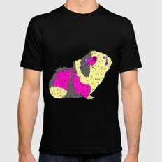 Piggy Stardust - Bowie Guinea Pig Mens Fitted Tee Black MEDIUM