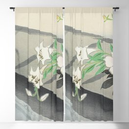 Flower boat from Momoyogusa-Flowers of a Hundred Generations (1909) by Kamisaka Sekka Blackout Curtain
