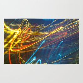 Abstract City Night - Light Painting Rug