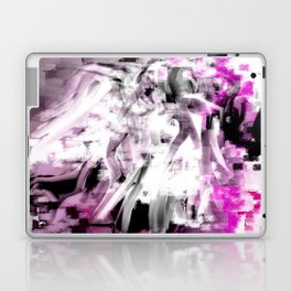 Abstract Angel in Purple, Pink, Black and White Laptop & iPad Skin