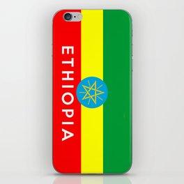 Ethiopia country flag name text iPhone Skin