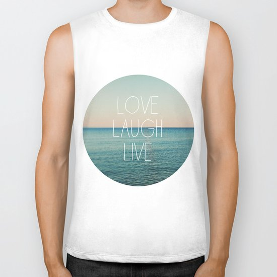 Love Laugh Live #2 Biker Tank