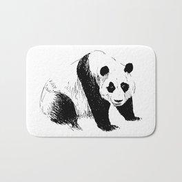 Drawing panda Bath Mat