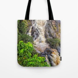 Waterfall in the rainforest Tote Bag