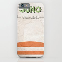 Juno - Alternative Movie Poster, classic movie, funny movie, minimal movie poster iPhone Case