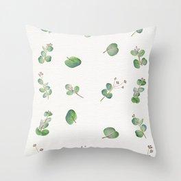 Eucalyptus Pattern Watercolor  Throw Pillow