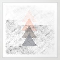 triangles Art Prints featuring Triangles by Indiepeek | Marta