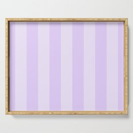 Chalky Pale Lilac Pastel Beach Hut Stripes Serving Tray