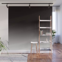 Monochromatic Background, Faded Black to Grey Wall Mural