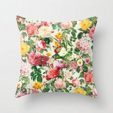 Floral A Throw Pillow