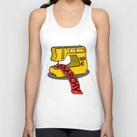 sewing Tank Tops featuring Anarchy Sewing Machine by mailboxdisco