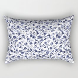 Floret Indigo Ditsy Rectangular Pillow