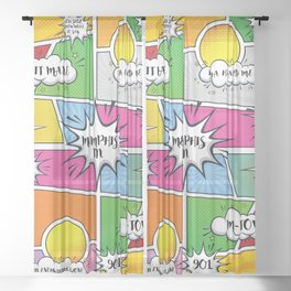 Memphis Slang Sheer Curtain