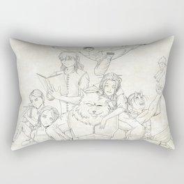Dungeons and Dragons Group Rectangular Pillow