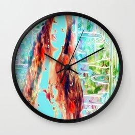 Swirling multi color goddess ladykashmir  Wall Clock