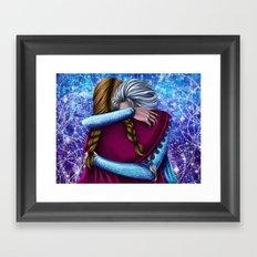 Anna and Elsa ~Frozen Framed Art Print