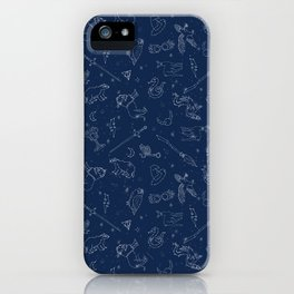 Magic Constellations - magic, magic school, wizard, witch, witchcraft, broom, wand, spell, house, ow iPhone Case