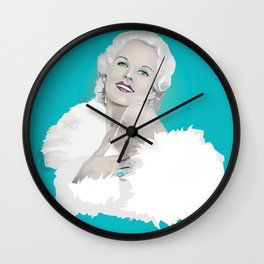 Platinum Blonde - Jean Harlow Wall Clock