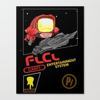 flcl Canvas Prints featuring NES FLCL by IF ONLY
