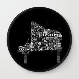 Invert Piano Wall Clock