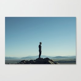 Alone in the blue summit Canvas Print