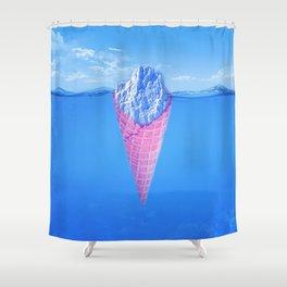 Ice Cream Berg Shower Curtain
