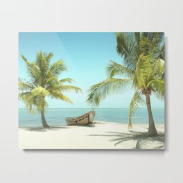 Shipwrecked / Beach Photography Metal Print