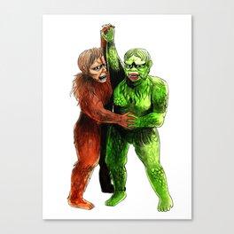 Brown and Green Gargantua Canvas Print