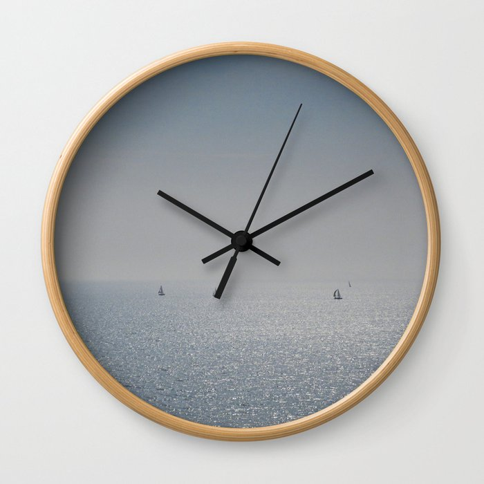 Distant Yachts  Wall Clock