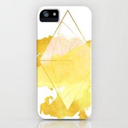 Heart of the Sun - Yellow Gold Geometric iPhone Case