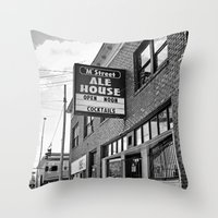 ale giorgini Throw Pillows featuring M Street Ale House by Vorona Photography