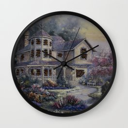 Altered Painting -Welcome Home Dresden Wall Clock