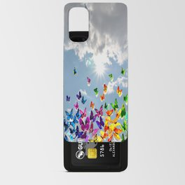 Butterflies in blue sky Android Card Case