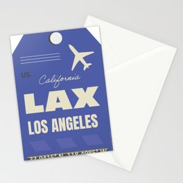 Airport code sticker LAX Stationery Cards