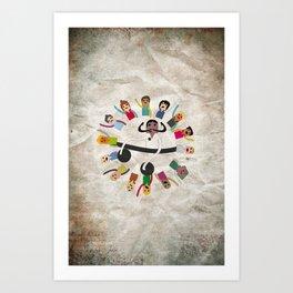 Dancing Circle Deejay Art Print