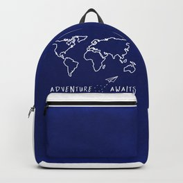 Adventure Map - Navy Blue Backpack